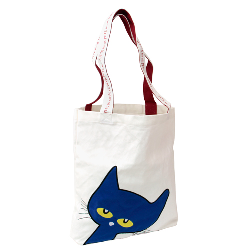 Pete the Cat Flat Canvas Tote Bag