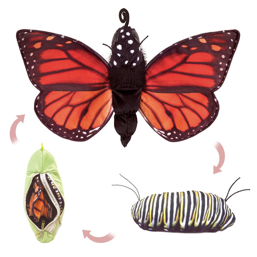 "Monarch Life Cycle Hand Puppet - 22"" W"