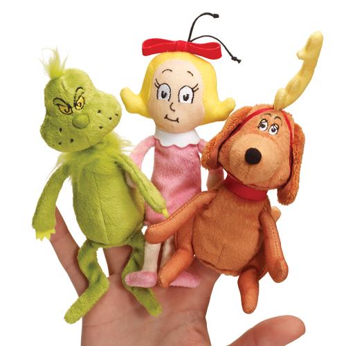 "The Grinch™ Finger Puppet Set - 3-1/2"" H"