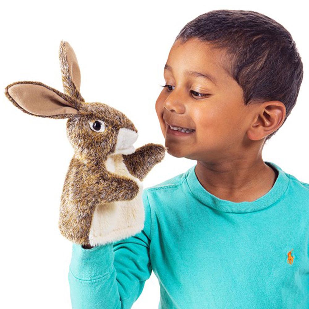 """Hare Little Hands Puppet - 10"""" H"""