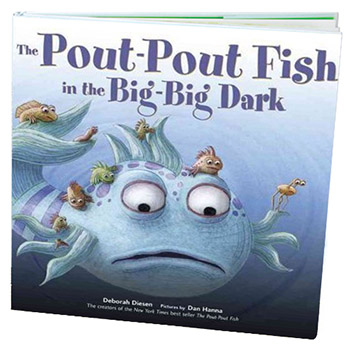 The pout pout fish in the big big dark book for The pout pout fish book