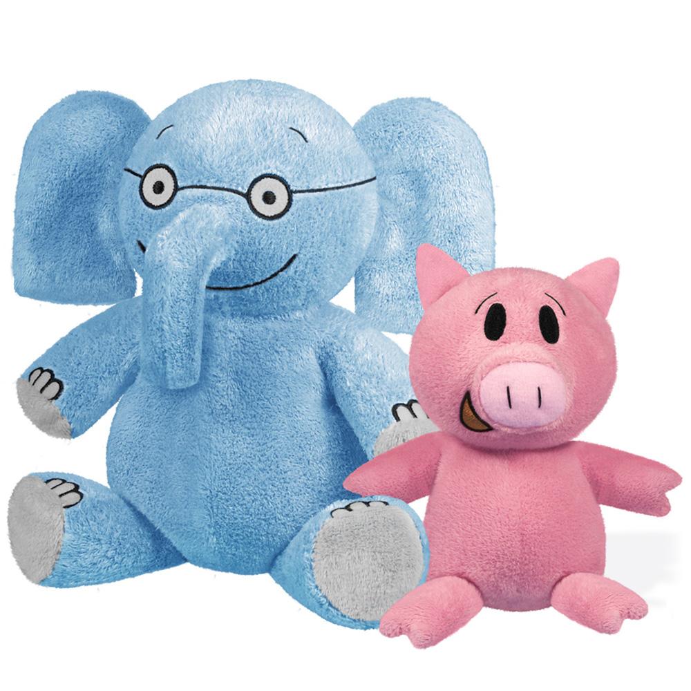 Elephant & Piggie Plush Set