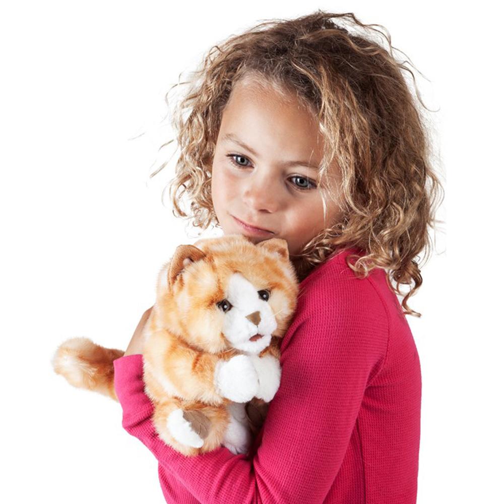 Folkmanis® Orange Tabby Kitten Hand Puppet