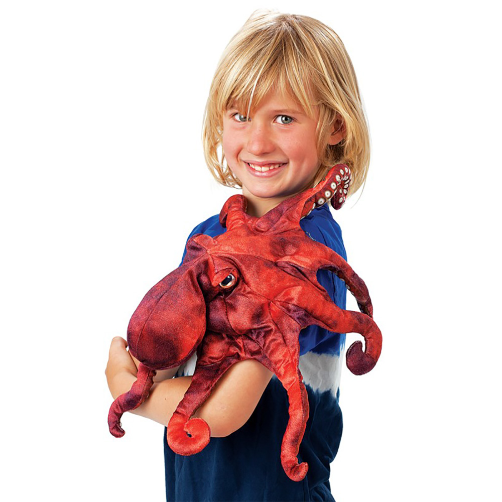 Folkmanis® Red Octopus Hand Puppet
