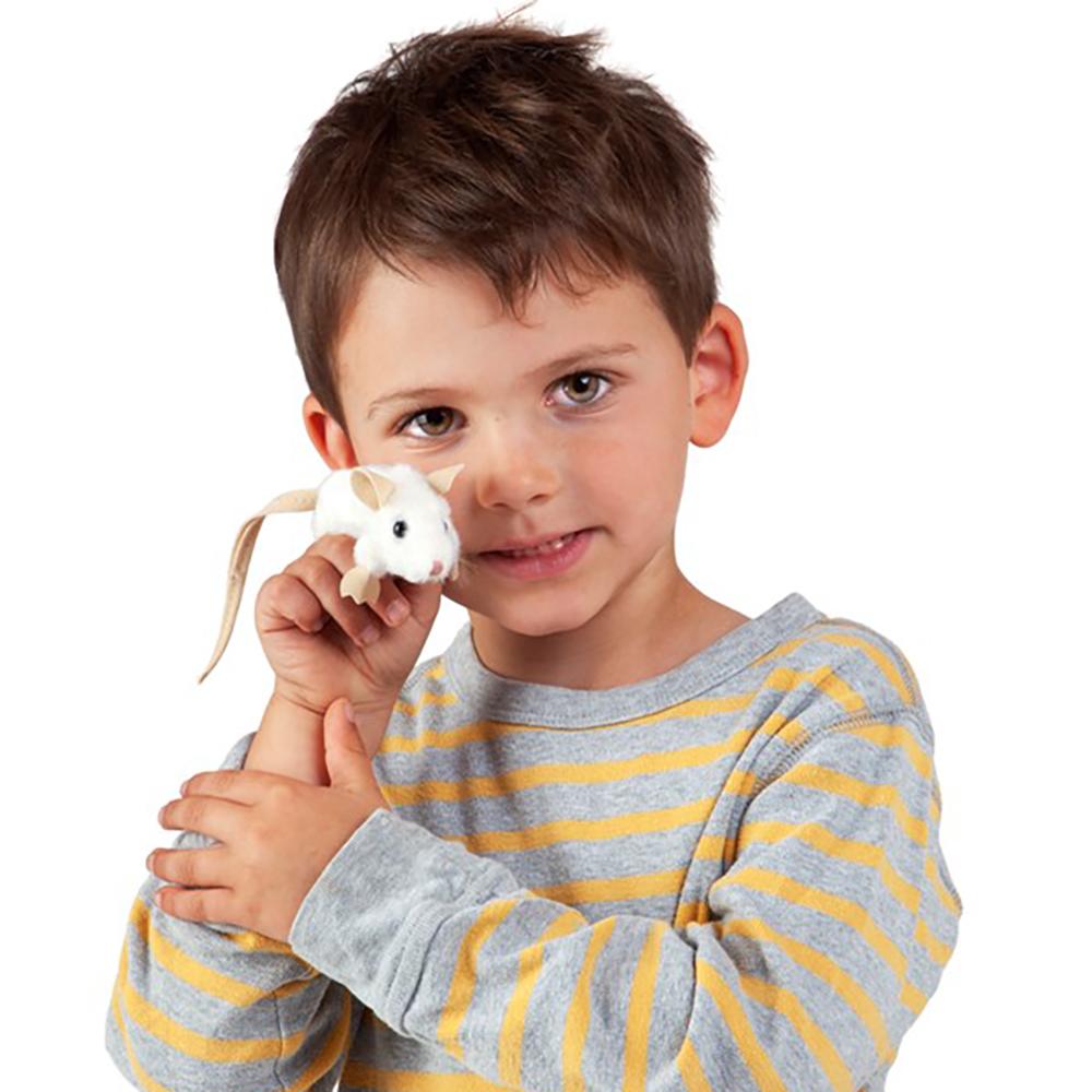 Folkmanis® White Mini Mouse