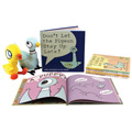 Pigeon 6 Books and 2 Plush Set