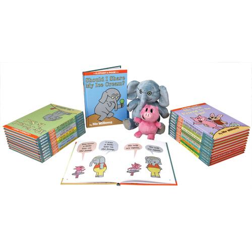 Elephant and Piggie 25 Books and 2 Plush Set
