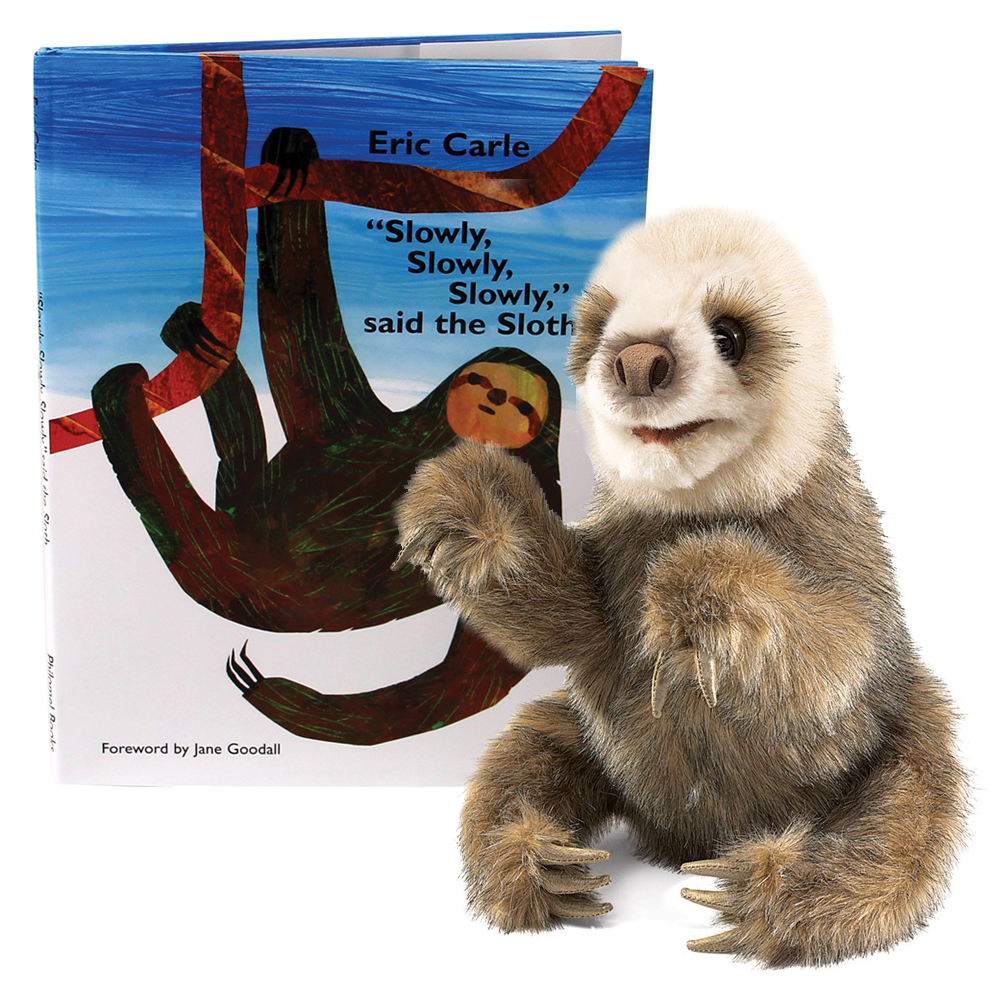 Eric Carle™ Slowly, Slowly, Slowly Said the Sloth Book and Puppet Set