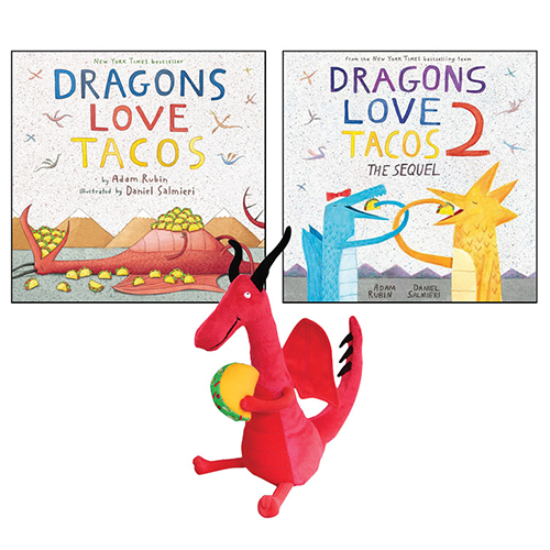 Dragons Love Tacos 2 Books and Doll Set
