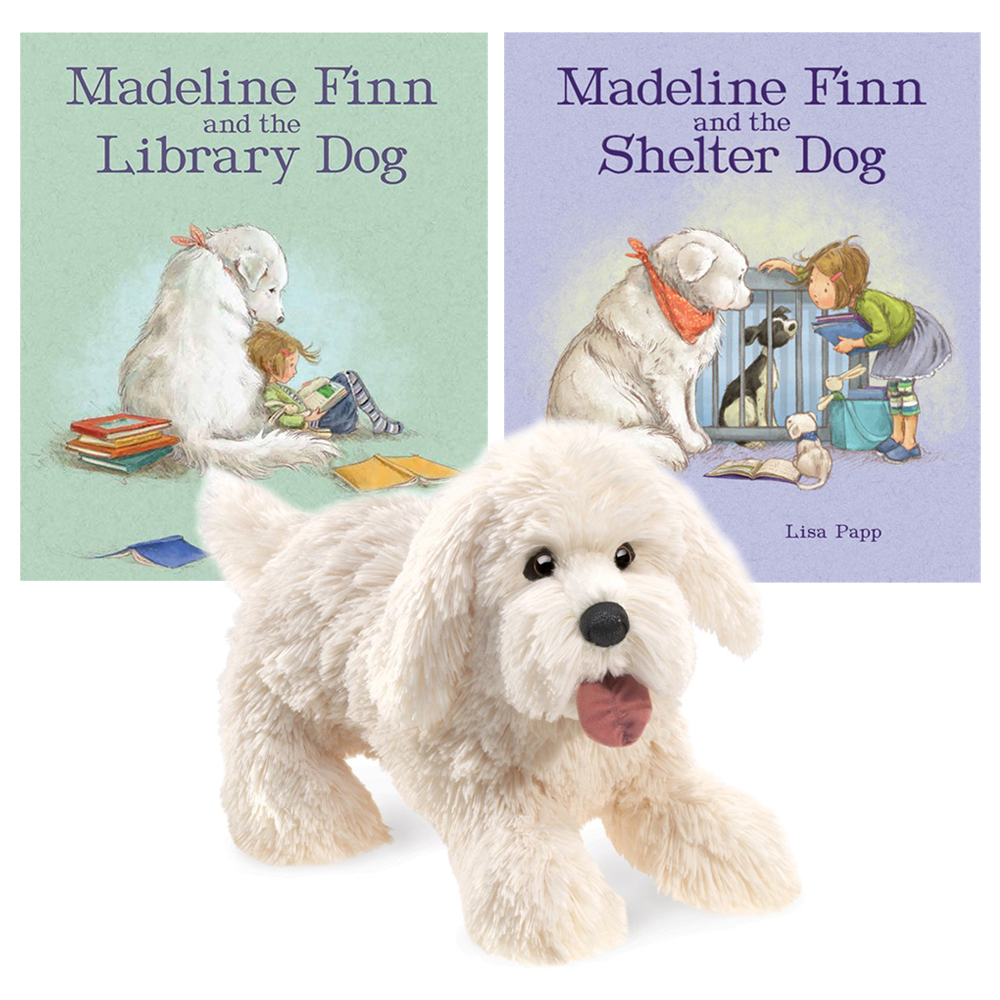 Madeline Finn and Her Dog Friends Books and Puppet Set