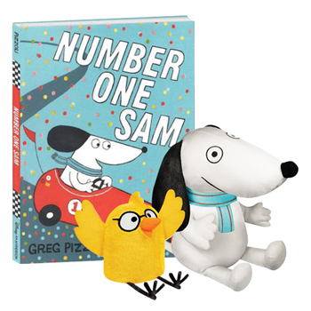 Number One Sam Book and 2 Plush SetNew!