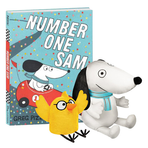 Number One Sam Book and 2 Plush Set