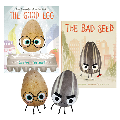 The Good Egg, The Bad Seed 2 Books and Doll SetNew!
