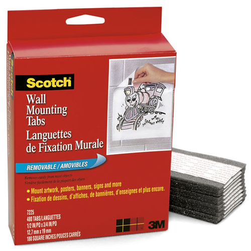 Scotch Wall Mounting Tabs