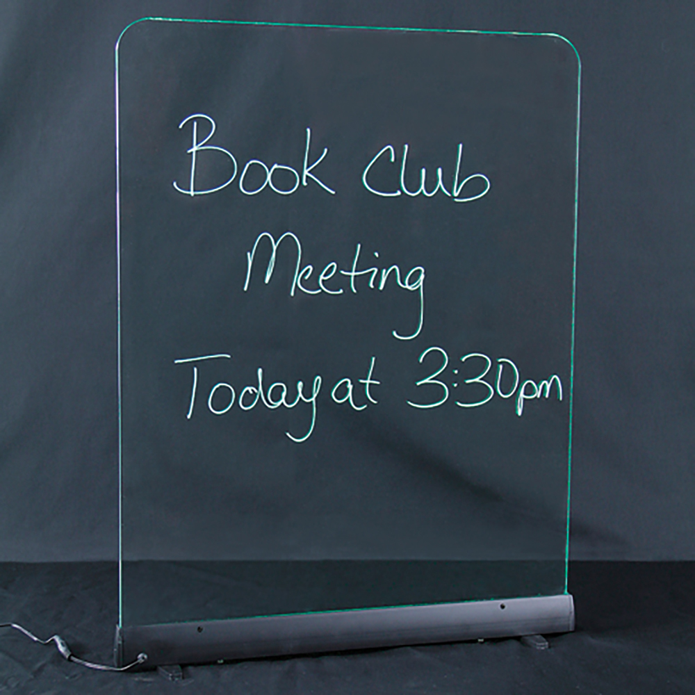 Message Boards - Illuminated Edge-Lit Double-Sided Wet-Erase