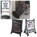 Outdoor Double-Sided Sidewalk/Curb Signs
