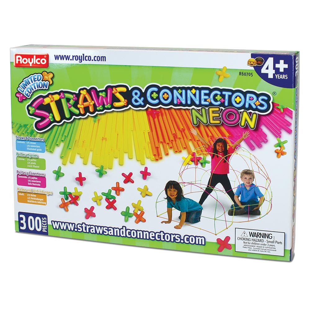 Roylco® Straws & Connectors™ - Neon Colors - 300/PkgNew!
