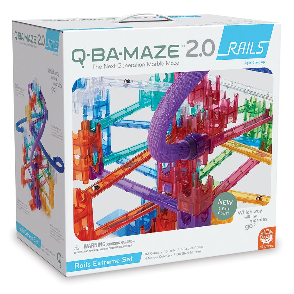Q-BA-MAZE™ 2.0 Marble Maze Building - Rails Extreme Set