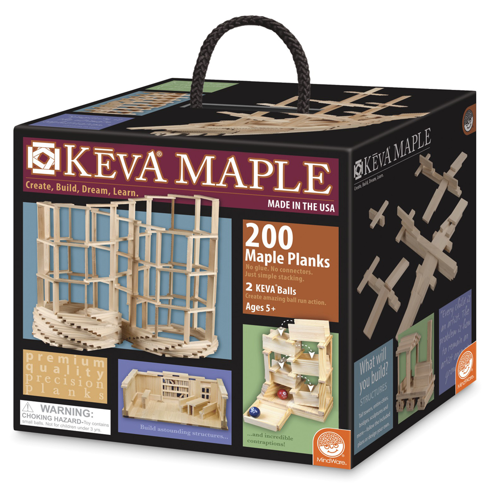 KEVA® Plank Building Set - Maple Plank Set - 200/Pkg