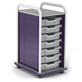 Paragon A & D® Crossfit Storage Single Tower Open Front -  7 totes