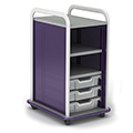 Paragon A & D® Crossfit Storage Single Tower Open Front -  3 Totes ,2 Shelves