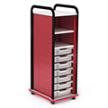 Paragon A & D® Crossfit Storage Single Tower Open Front - 7 Totes and 2 Shelves