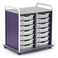 Paragon A & D® Crossfit Storage   Double Tower with Open Front  - 14 Totes
