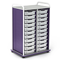 Paragon A & D® Crossfit Storage Double Tower with Open Front - 22 Totes