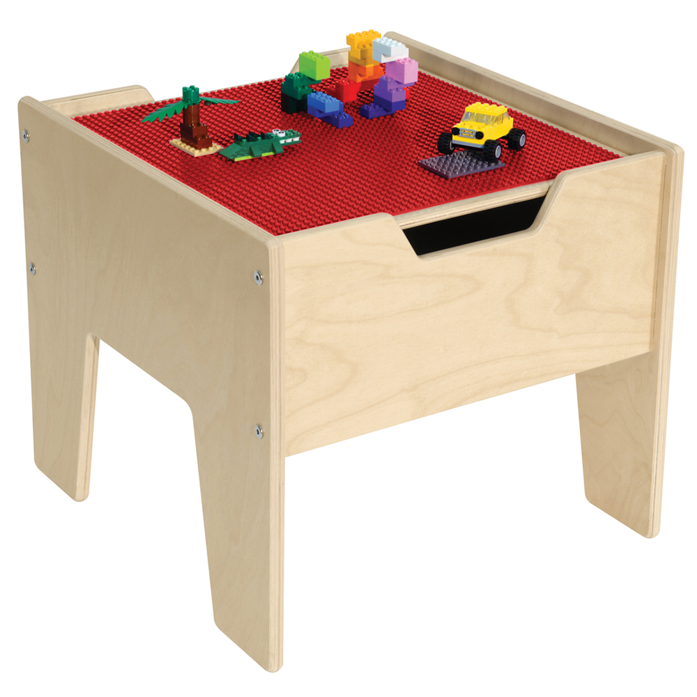 Wood Designs™ Contender 2-N-1 Activity Table with  Lego Compatible Top