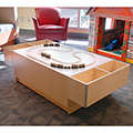 3branch Discovery Table with Train Tracks Top and 2 Floating Storage Bins