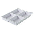 Gratnells® Tray Insert - 4 Sections