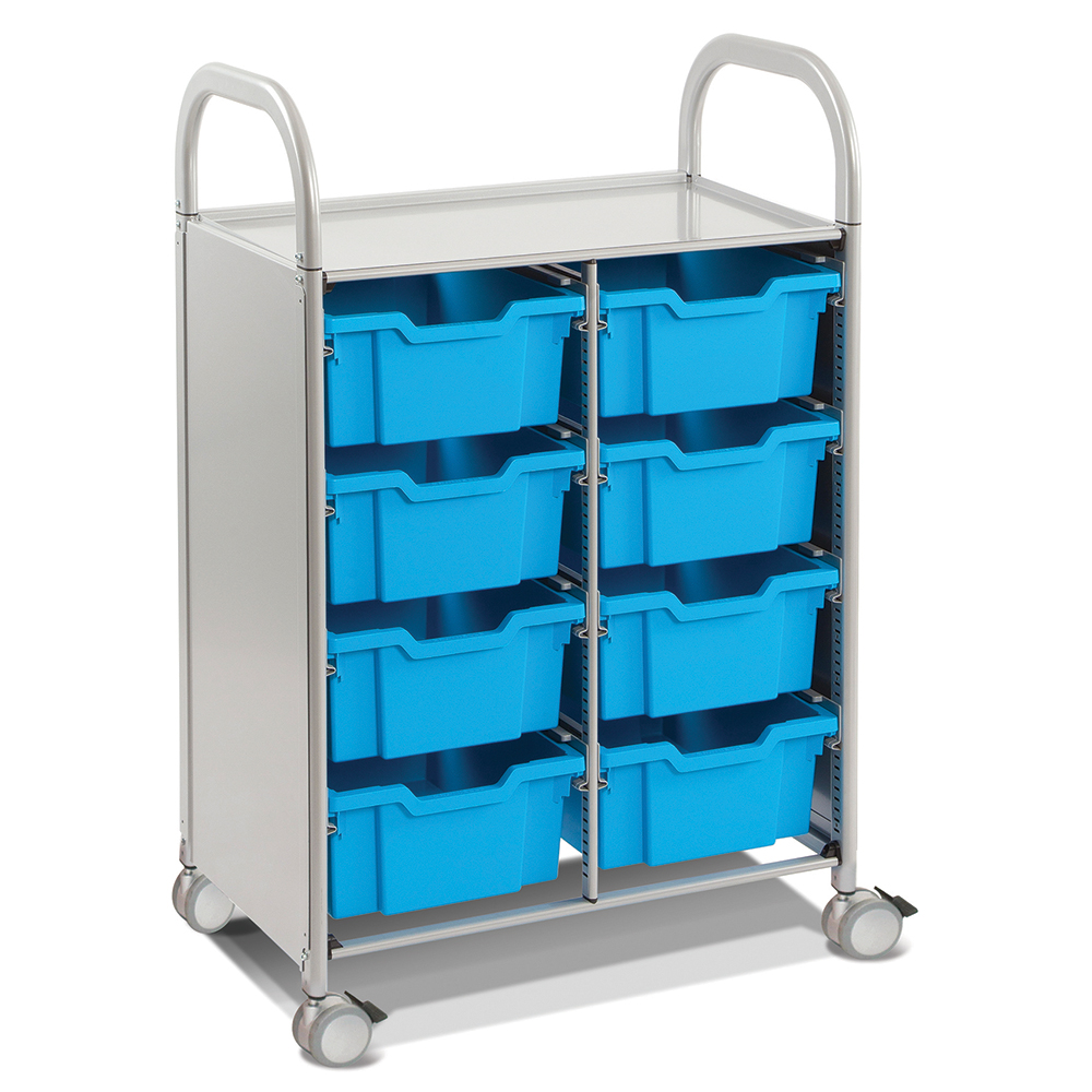 Gratnells® Callero Double Storage Cart - 8 Deep Trays