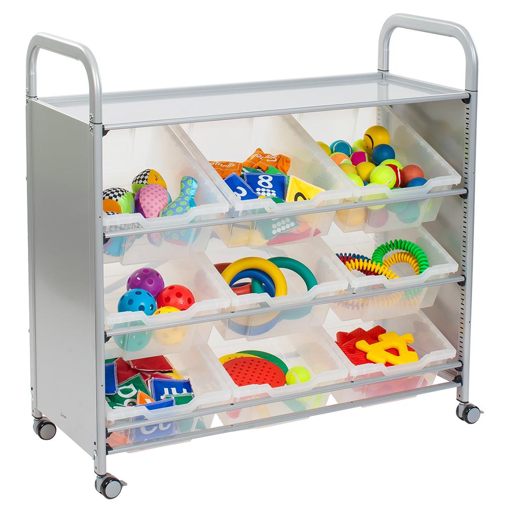 Gratnells® Callero Tilted Tray Storage Cart - 9 Deep Trays