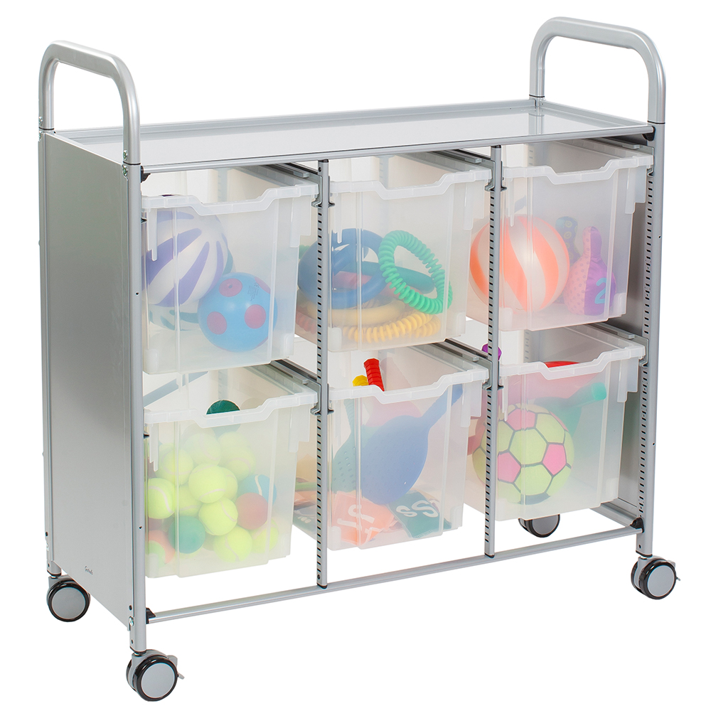 Gratnells® Callero Triple Storage Cart - 6 Jumbo Trays