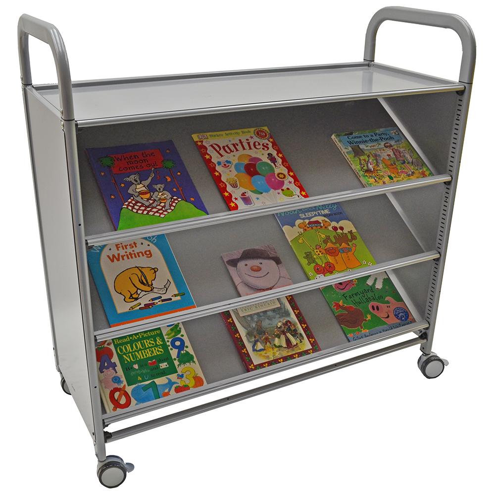 Gratnells® Callero Tilited Shelf Storage Cart - 3 Tilted Shelves