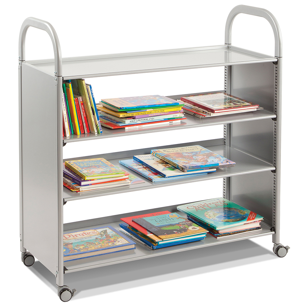 Gratnells® Callero Flat Shelf Storage Cart - 4 Flat Shelves