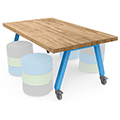 SMITH SYSTEM™ STEM Planner Butcher Block Studio Table