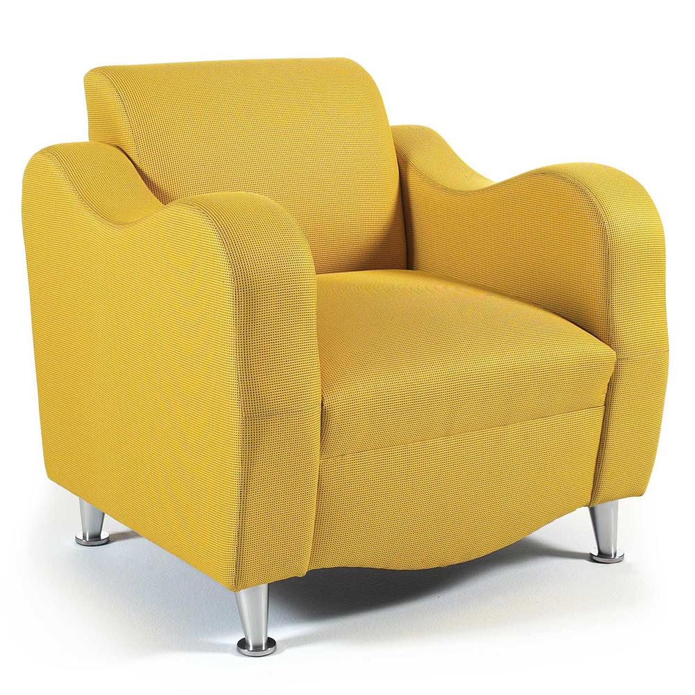 HPFI® Claudia Lounge Seating - Fabric Club Chair