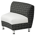 HPFI® Accompany Curved Lounge Seating - 30° Inside Facing Chair, Fabric