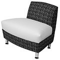HPFI® Accompany Curved Lounge Seating - 30° Outside Facing Chair, Fabric