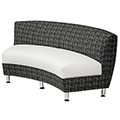 HPFI® Accompany Curved Lounge Seating - 60° Inside Facing Loveseat, Fabric