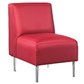 HPFI® Eve Lounge Seating - Armless Chair, Fabric