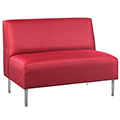 HPFI® Eve Lounge Seating - Armless Loveseat, Fabric