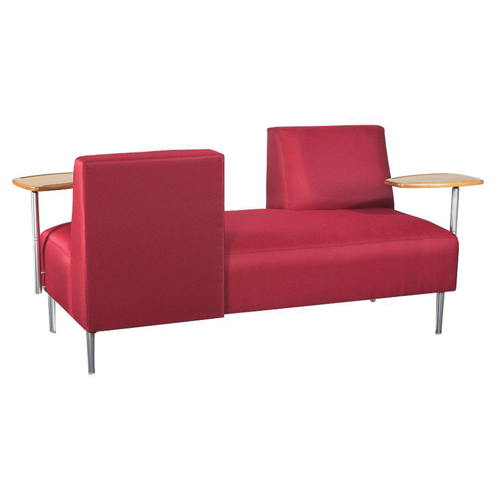 HPFI® Opposing Back Lounge Seating - Fabric Lounge Seat with Tablets