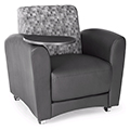 ofm InterPlay Mobile Lounge Seating - Tablet Chair with 4 casters