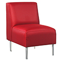 HPFI® Eve Lounge Seating - Armless Chair, Leather