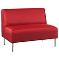 HPFI® Eve Lounge Seating - Armless Loveseat, Leather