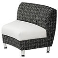 HPFI® Accompany Curved Lounge Seating - 30° Inside Facing Chair, Leather