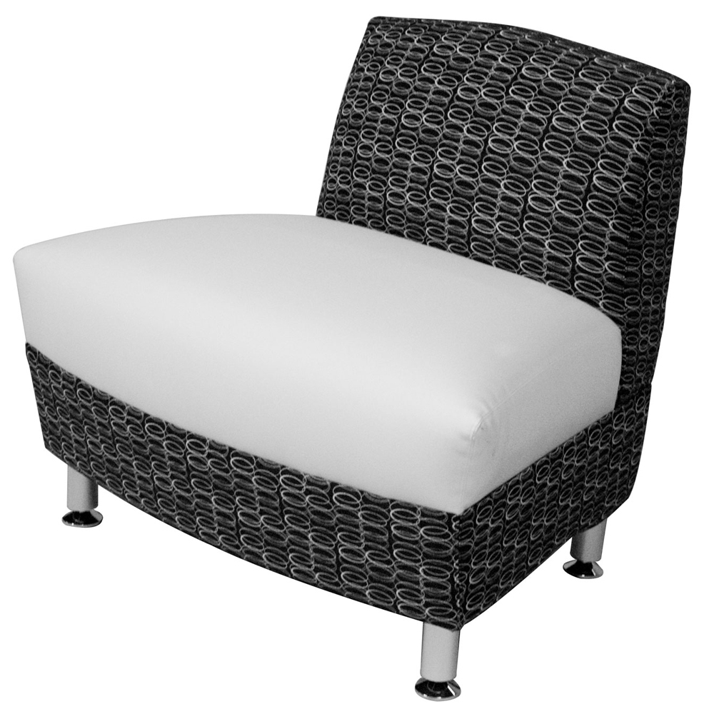 HPFI® Accompany Curved Lounge Seating - 30° Outside Facing Chair, Leather