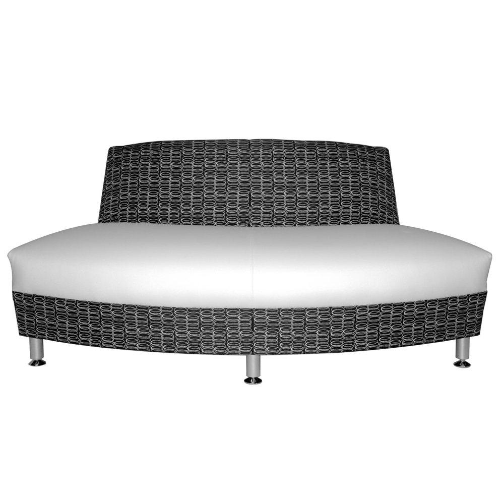HPFI® Accompany Curved Lounge Seating - 60° Outside Facing Loveseat, Leather